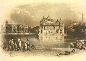 Engraving of the Golden Temple by a <span class=