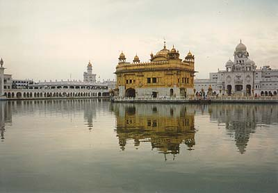 The Golden Temple reflecting off the 'Nectar Tank'