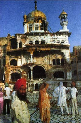 The Akal Takhat after June 6th, 1984